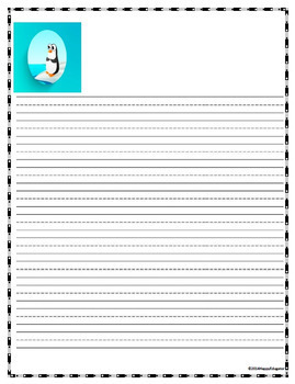 PENGUINS Writing Paper - Lined Paper - Penguins Theme