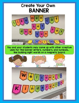 PENNANT BANNER TEMPLATE IN UPPERCASE AND LOWER CASE