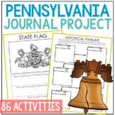 PENNSYLVANIA History Project, Differentiated State Research Journal {EDITABLE}