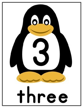 PENQUIN COUNTING FLASHCARDS