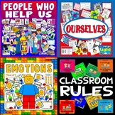 PEOPLE WHO HELP US, OURSELVES, EMOTIONS, CLASSROOM RULES