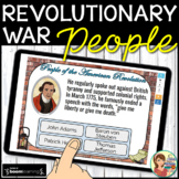 PEOPLE of the Revolutionary War Boom Cards Distance Learning