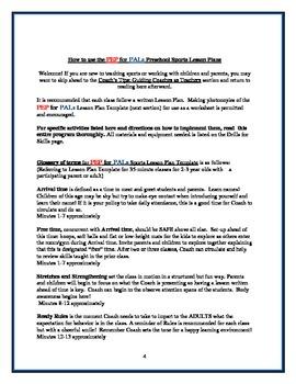 PEP BASEBALL Parent/Child PE Lesson plans curriculum