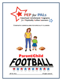 PEP FOOTBALL Parent/Child PE Lesson plans preschool curriculum