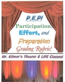 """PEP"" Rubric - Participation, Effort, & Preparation! Got ""PEP""??"