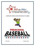 PEP for PALs Baseball preschool sports program, t-ball, enrichment curriculum