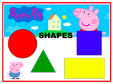 PEPPA PIG SHAPES and COLORS  Powerpoint- Animated with sou