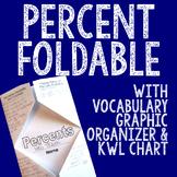 PERCENT Foldable, Graphic Organizer, and KWL Chart
