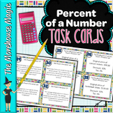 PERCENT OF A NUMBER TASK CARDS ACTIVITY