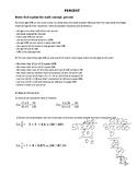 PERCENTS AND FRACTIONS