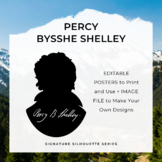 PERCY BYSSHE SHELLEY Signature Silhouette Posters