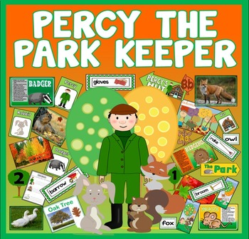PERCY THE PARK KEEPER STORY TEACHING RESOURCES EYFS KS1 ENGLISH AUTUMN ANIMAL