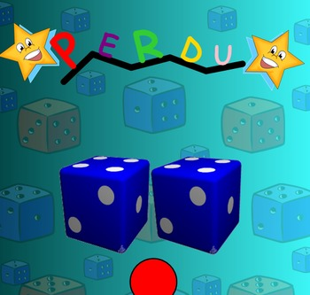 PERDU! Smart Notebook Game to Review Numbers & Probability in French