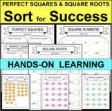PERFECT SQUARES SQUARE ROOTS SORT FOR SUCCESS Hands-On Sorting Activities