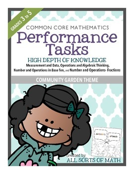 MATH PERFORMANCE TASKS {Bundle} GRADES 3 to 5