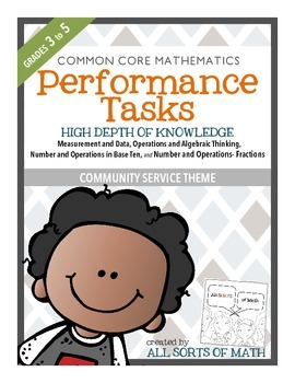 MATH PERFORMANCE TASKS {Community Service} GRADES 3 to 5