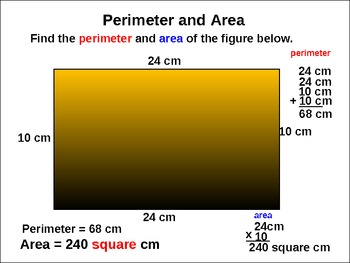 Perimeter and Area: Animated Practice