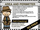 PERIMETER AND AREA Math Centers | Digital Task Cards | NO PREP
