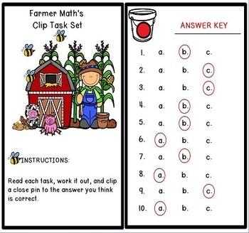 Area and Perimeter Clip Tasks Math Center Activities