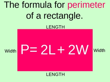 PERIMETER of rectangles (and other objects)