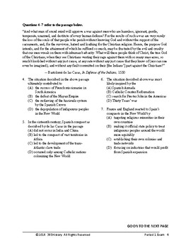 PERIOD ONE EXAM: 1450-1648 for the Redesigned AP European Exam