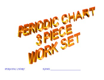 PERIODIC CHART 3 PIECE WORK SET