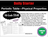Daily Starter The PERIODIC TABLE- PHYSICAL PROPERTIES