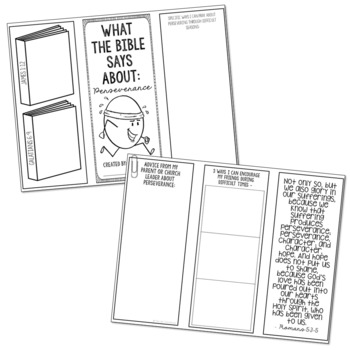 PERSEVERANCE: Bible Activity for Teens, Brochure Project, Interactive Lesson