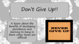 PERSISTENCE DON'T GIVE UP SELF-TALK MINDFULNESS Ready 2 Us