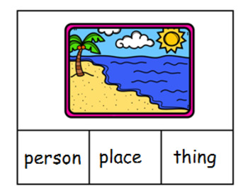 PERSON, PLACE AND THINGS CLIPCARDS