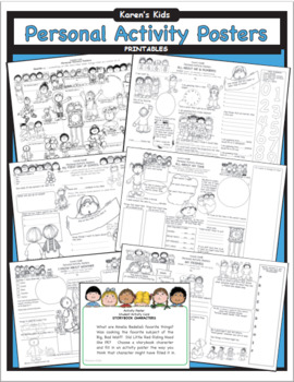 PERSONAL ACTIVITY POSTERS Thematic-Art-Write