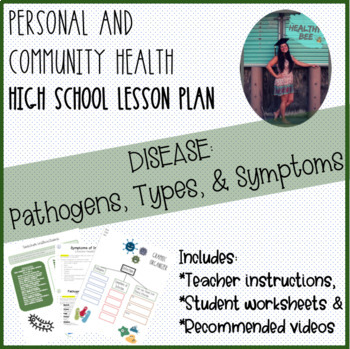 Personal And Community Health Lesson Plan Pathogens Diseases And