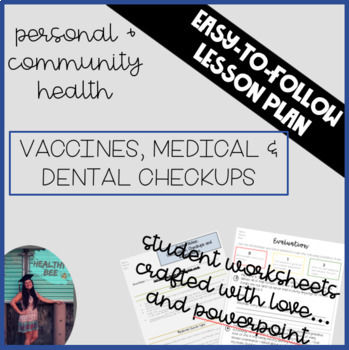 PERSONAL AND COMMUNITY HEALTH LESSON PLAN: Vaccinations and Checkups