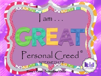 PERSONAL CREED:  Self-management, self-acceptance, & self-awareness