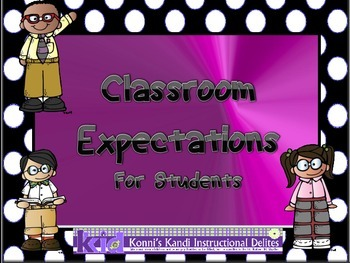 CLASSROOM EXPECTATIONS:  Posters to promote positive behaviors
