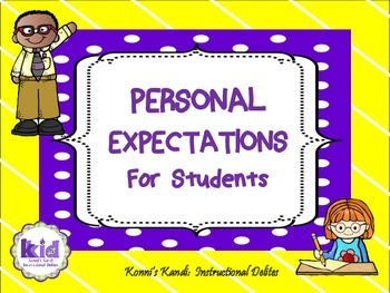 CLASSROOM EXPECTATIONS:  Reinforce positive behaviors