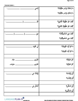 PERSONAL ID PROJECT, PRESENTING OTHERS (ARABIC)