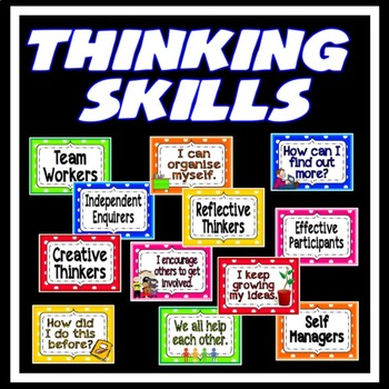 PERSONAL LEARNING THINKING SKILLS POSTERS TEACHING RESOURCES DISPLAY