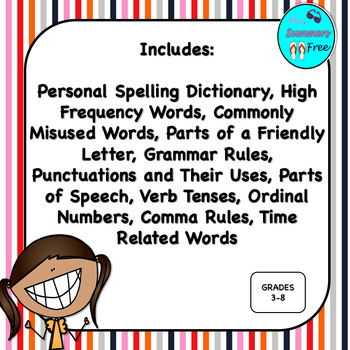 PERSONAL SPELLING DICTIONARY FOR INTERMEDIATE GRADES