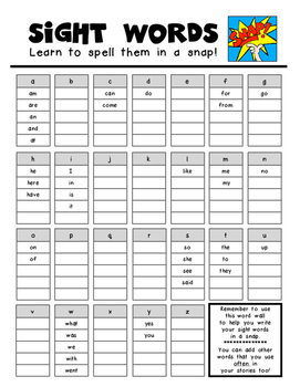 Personal Word Wall - Writing Workshop - Words in a SNAP!