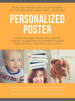 PERSONALIZED Classroom Poster