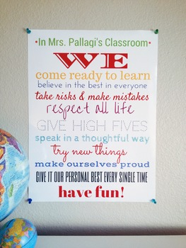 """PERSONALIZED """"In Our Classroom"""" 18x24 Laminated Poster {An Awesome Gift!}"""
