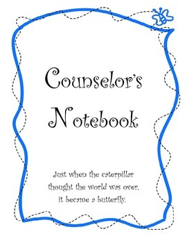 PERSONALIZED Butterfly School Counselor Organization Pack