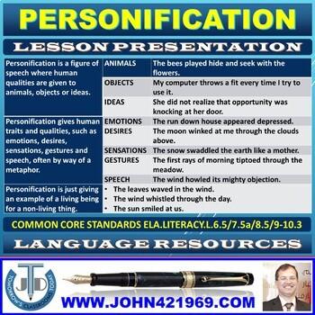 PERSONIFICATION LESSON PRESENTATION