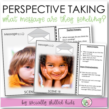 PERSPECTIVE TAKING ACTIVITY~Photo Cards Set 4 {Body Language/Facial Expressions}
