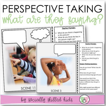 PERSPECTIVE TAKING ACTIVITY~ Photo Cards Set 2 {What Are They Saying?}