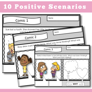 PERSPECTIVE TAKING Comic Strip Activity || K-2nd
