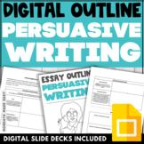 PERSUASIVE ESSAY OUTLINE Digital Graphic Organizer for Google Classroom®