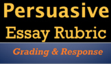 PERSUASIVE ESSAY RUBRIC - For Grading, Revision, & Student Self-Assessment