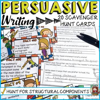 PERSUASIVE/OPINION WRITING: STRUCTURAL COMPONENTS SCAVENGER HUNT